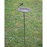 Rustic Antique Style Free Standing Bird Feeder Garden Ornament