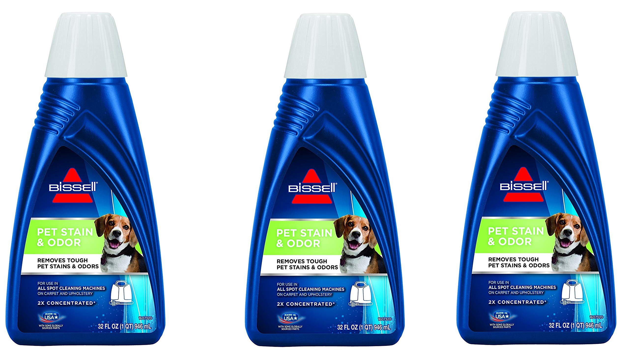 Bissell 2X Pet Stain and Odor Portable Machine Formula, 74R7, 3 Bottles (32 oz) Bissell-Ra