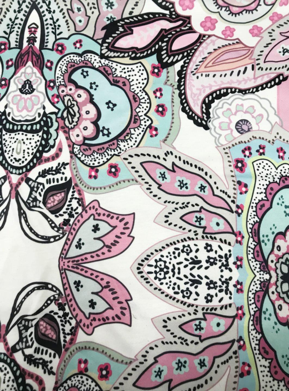 MIROL Womens Summer Short Sleeve Floral Print Irregular Hem Asymmetrical Loose Fit Tunic Tops, Pink, X-Large by MIROL (Image #4)