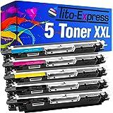 5 Toner-Patronen XXL Platinum Serie für HP CE310A Black, CE311A Cyan, CE312A Yellow, CE313A Magenta