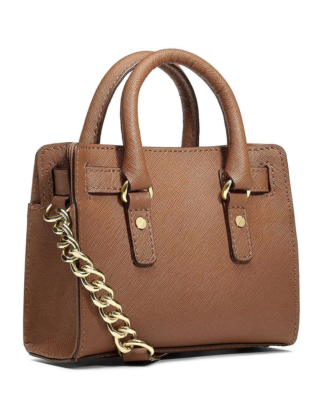 4e0e4f0d697f Amazon.com: Michael Kors Saffiano Leather Mini Hamilton Messenger Bag  Crossbody Luggage Brown: Shoes