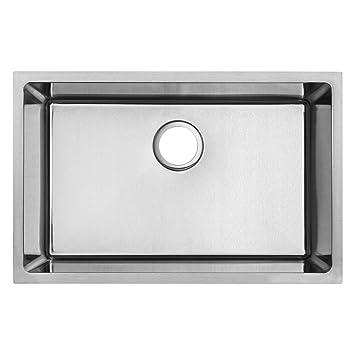 28 plz 24 tbask undermount 18 gauge stainless steel square kitchen 28 plz 24 tbask undermount 18 gauge stainless steel square kitchen sink amazon workwithnaturefo