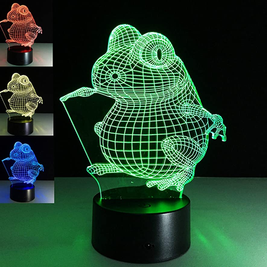 Animal 3D Frog Night Light