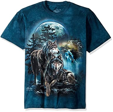 078d05bc6f Amazon.com  The Mountain Adult Unisex T-Shirt - Wolf Lookout  Clothing