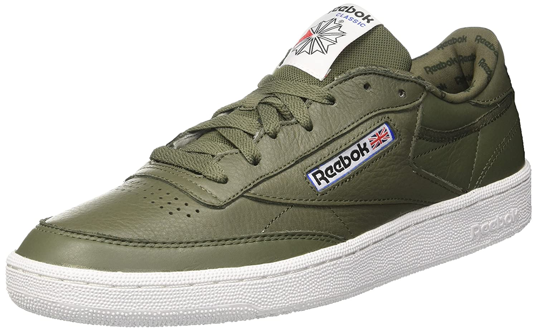 Vert (Hunter vert Primal rouge noir blanc Vital bleu) Reebok Club C 85 So, Chaussures de Gymnastique Homme 39 EU
