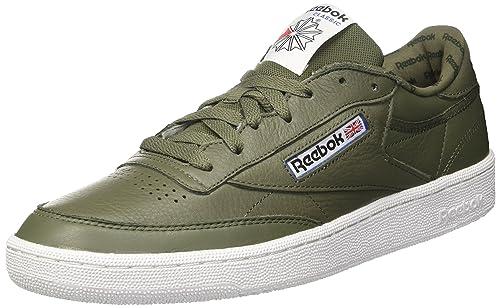 44486893defb6c Reebok Men s s Club C 85 So Gymnastics Shoes Grün (Hunter Green Primal Red