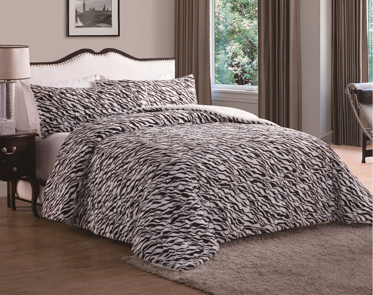 Luxury Home Animal Comforter,Black King