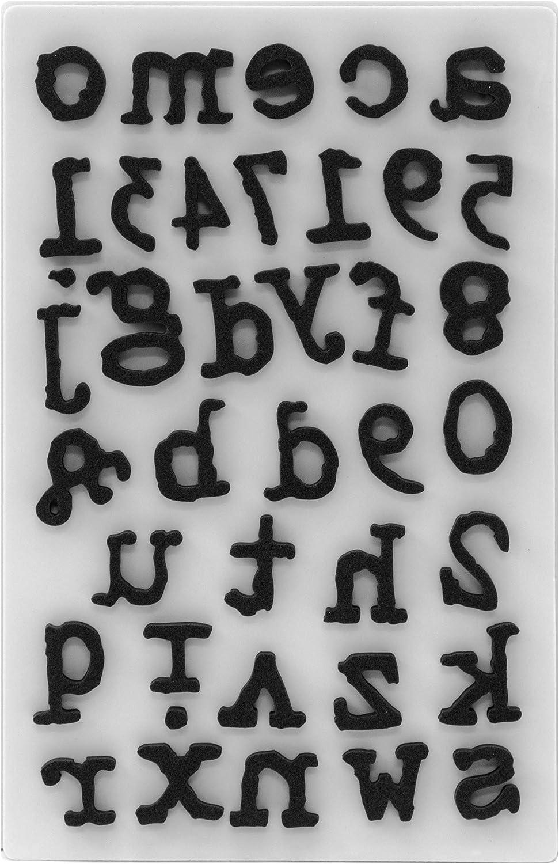 mat/ériau synth/étique Tim Holtz Tampons en mousse /à accrocher Type inf/érieur 27,2 x 18,3 x 0,6 cm noir