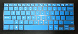 BingoBuy US Layout Keyboard Protector Skin Cover for Dell Precision 13-7375 15-5510 M5510 15-5520 M5520 15-5530 M5530 15-5540 M5540, XPS 15-9550 9560 9570 7590 Card Case(Blue)