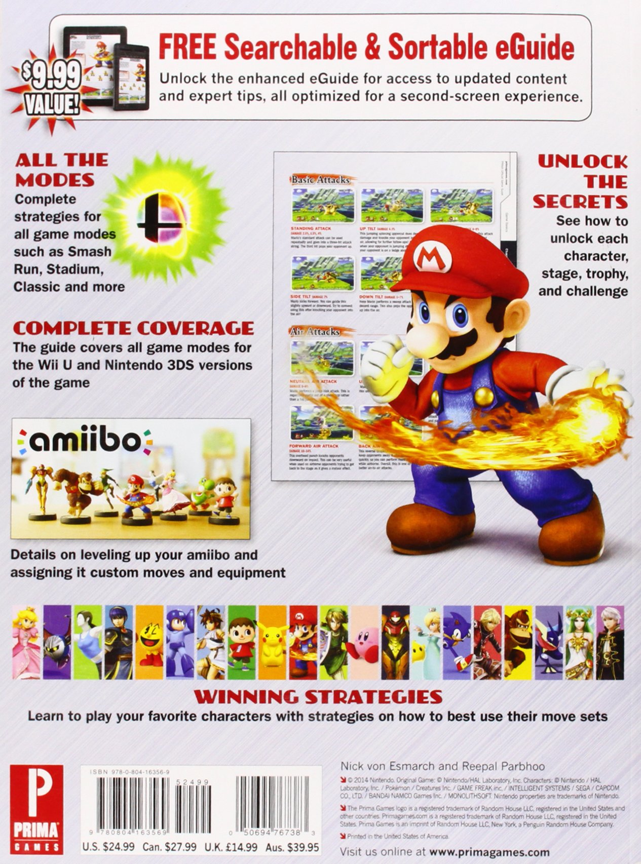 Super smash bros. Wii u & 3ds limited edition prima game guide.
