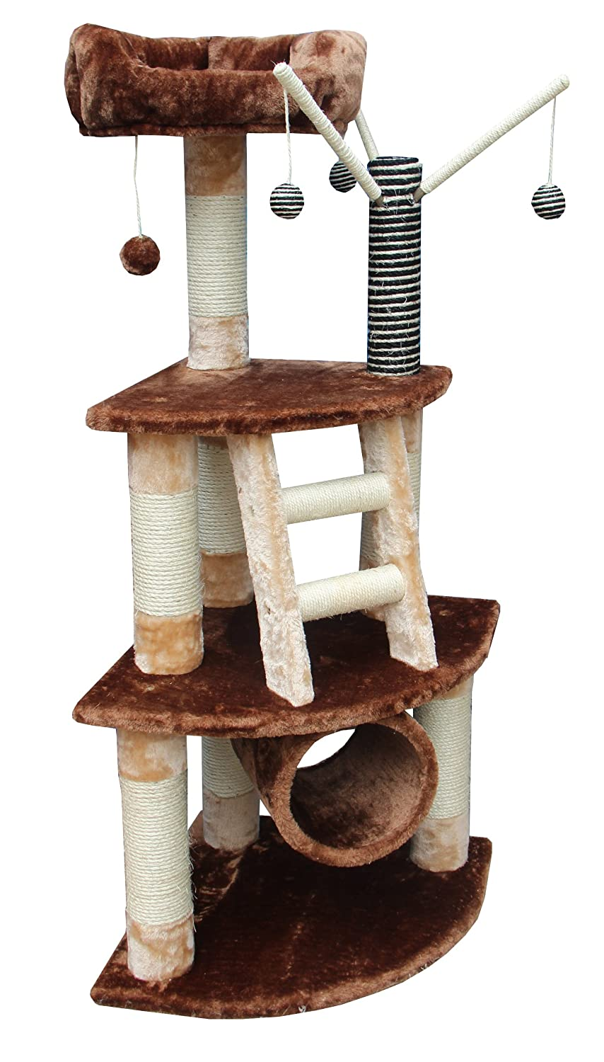 Kitty Mansions Athens Cat Tree, Brown Beige