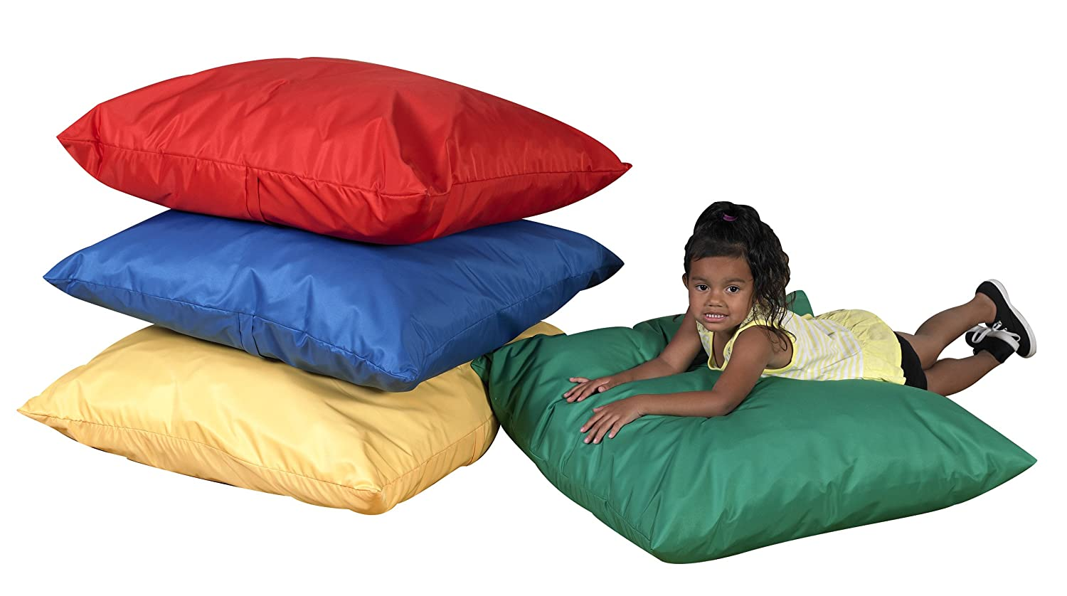 Image of Home and Kitchen Childrens Factory 27' Cozy Floor Pillows - Primary Set of 4 - CF650-507