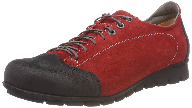 Think! Menscha_383073, Zapatos de Cordones Derby para Mujer 36 EU|Rojo (72 Rosso/Kombi)