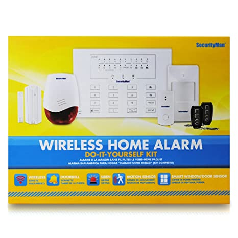 Amazon.com : SecurityMan AirAlarmII Wireless Smart Home Alarm System Kit  With Doorbell (White) : Home Security Systems : Camera U0026 Photo