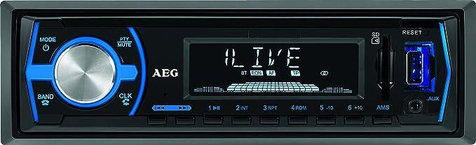 2 opinioni per AEG AR 4030BT/USB/CR Autoradio con Bluetooth, USB e Card Reader AUX-in, Display