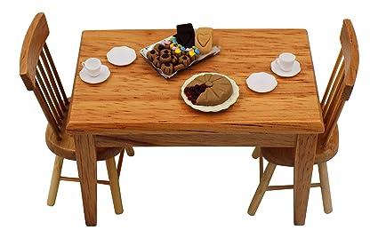 Amazon Com Dollhouse Furniture 112 Dollhouse Dining Table