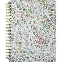 Fringe Studio 2022 Spiral Planner, Aug 2021 - Dec 2022, 17 Month, Paper Cover, Blue Eucalyptus (844142)