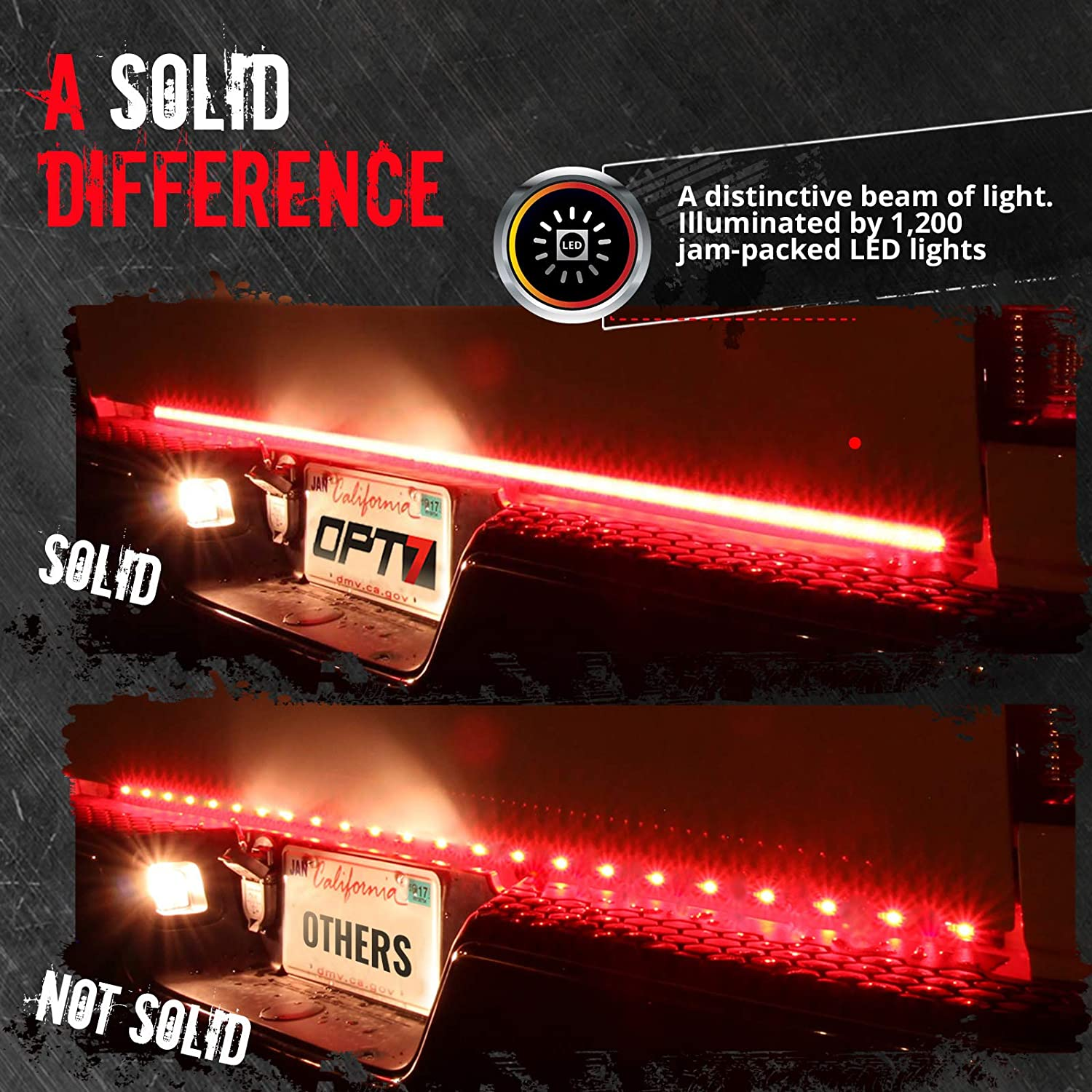 Amazing Amazon Com Opt7 48 Redline Triple Led Tailgate Light Bar W Wiring 101 Breceaxxcnl