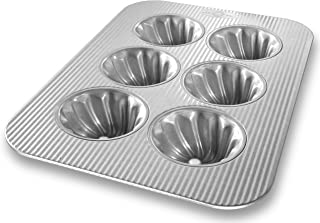product image for USA Pan Bakeware Swirl Cupcake Pan, 6 Well, Nonstick & Quick Release Coating, Made in the USA from Aluminized Steel