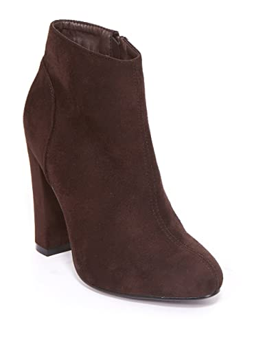 Women's High Heel Tribeca Almond Toe Ankle Boots With Zipper