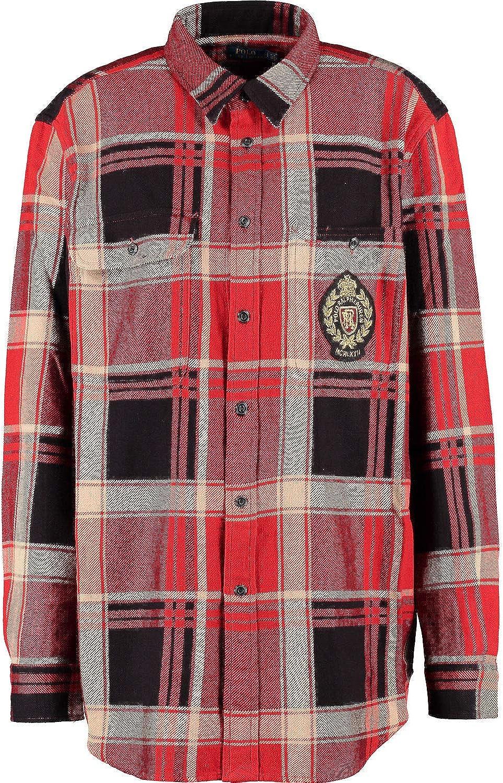 Polo Ralph Lauren - Camisa de Manga Larga, Color Rojo y Negro ...