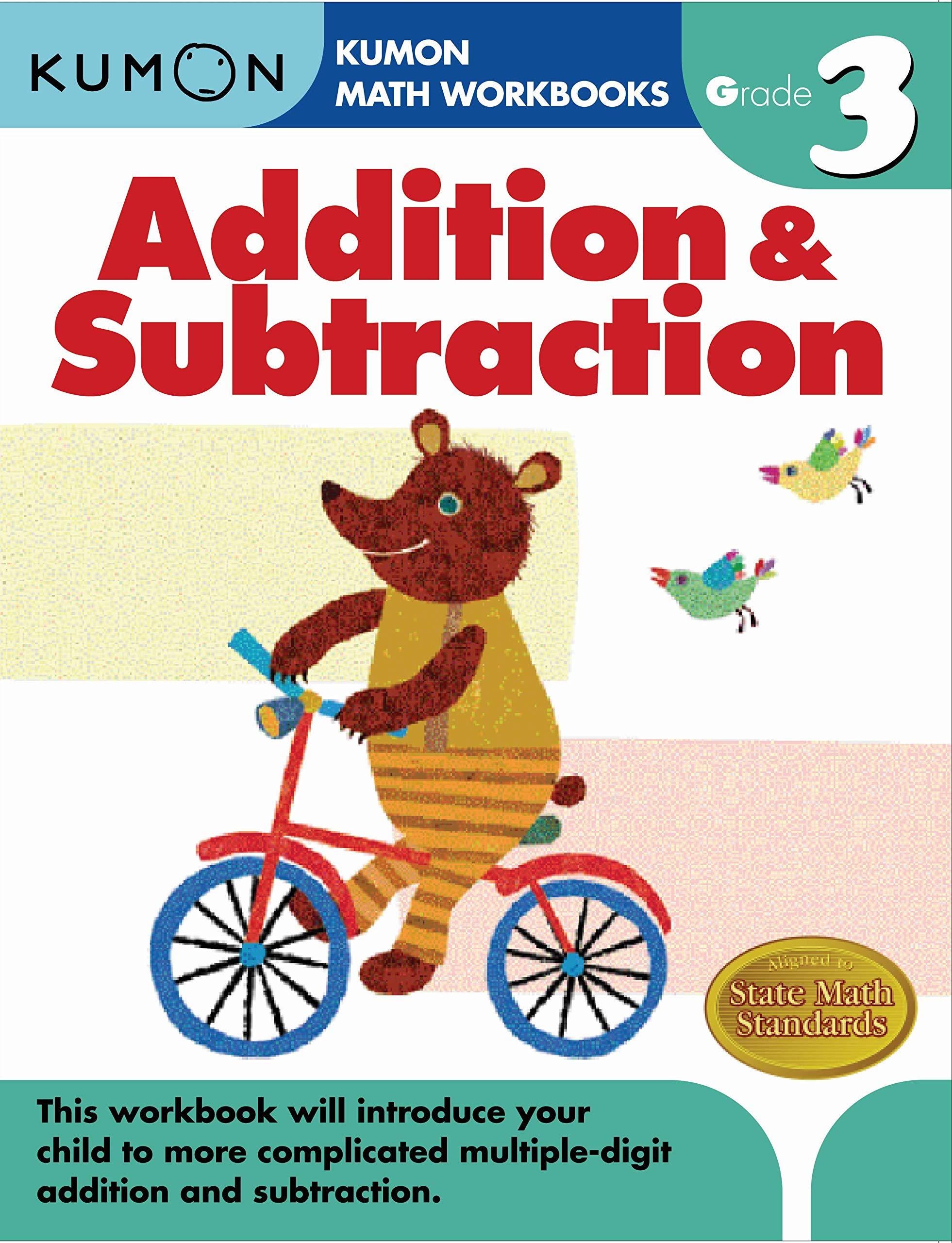 Addition And Subtraction Grade 3  Kumon Math Workbooks