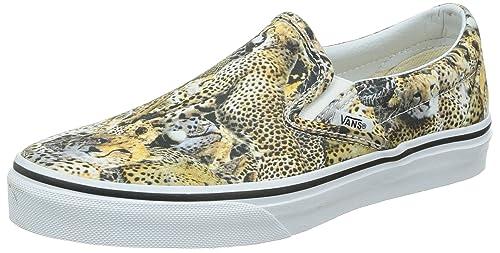 Vans U CLASSIC SLIPON Sneaker Unisex Adulto Marrone Leopardo 37