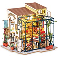 Hands Craft DG145-Flower Shop, DIY 3D Wooden Miniature Dollhouse Build Your own Crafting Kit with Real LED Lights, Fun…