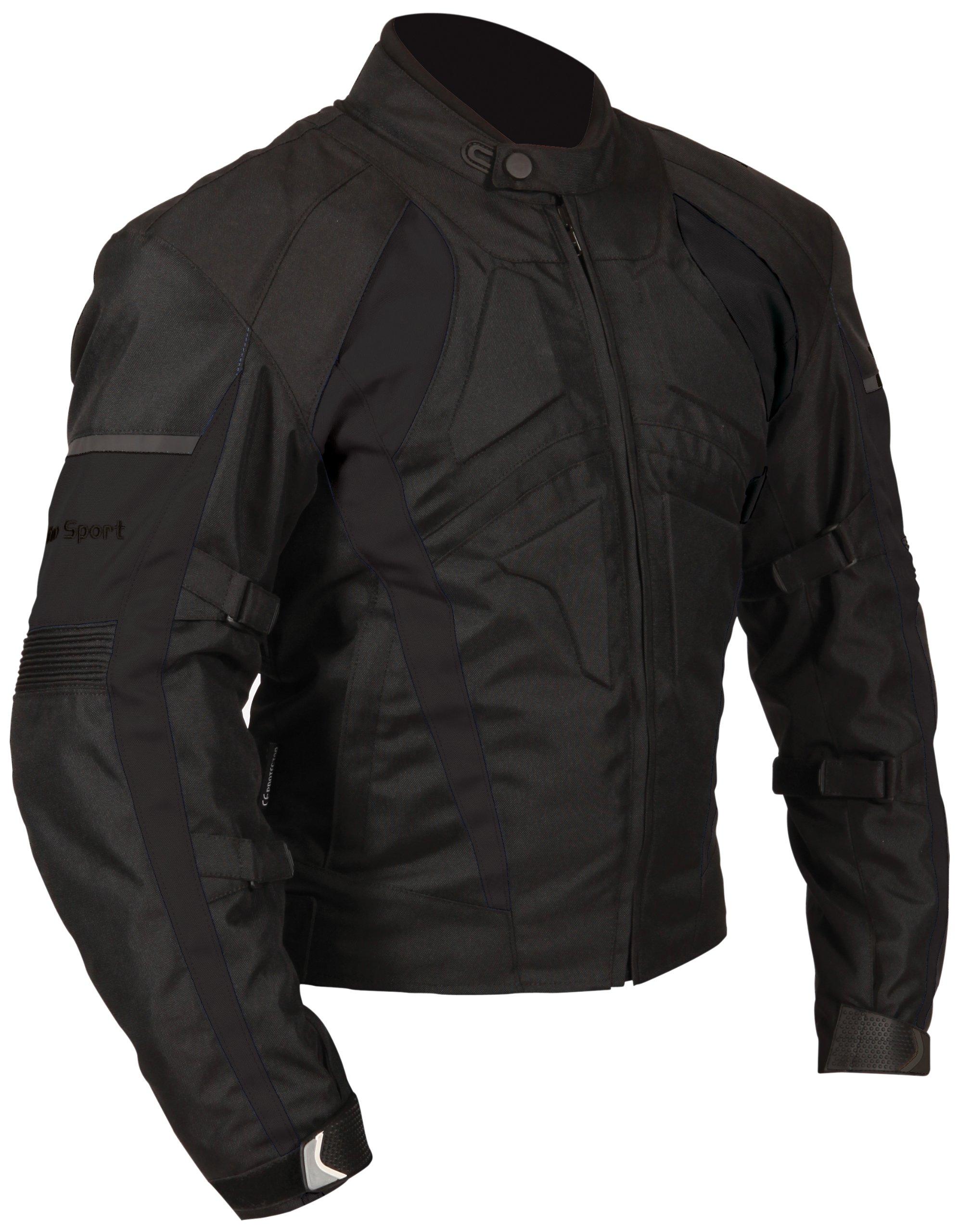 Milano Sport Gamma Motorcycle Jacket (Black, Small)