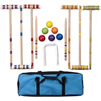 Hey! Play! 80-460510 Complete Croquet Set with Carrying Case