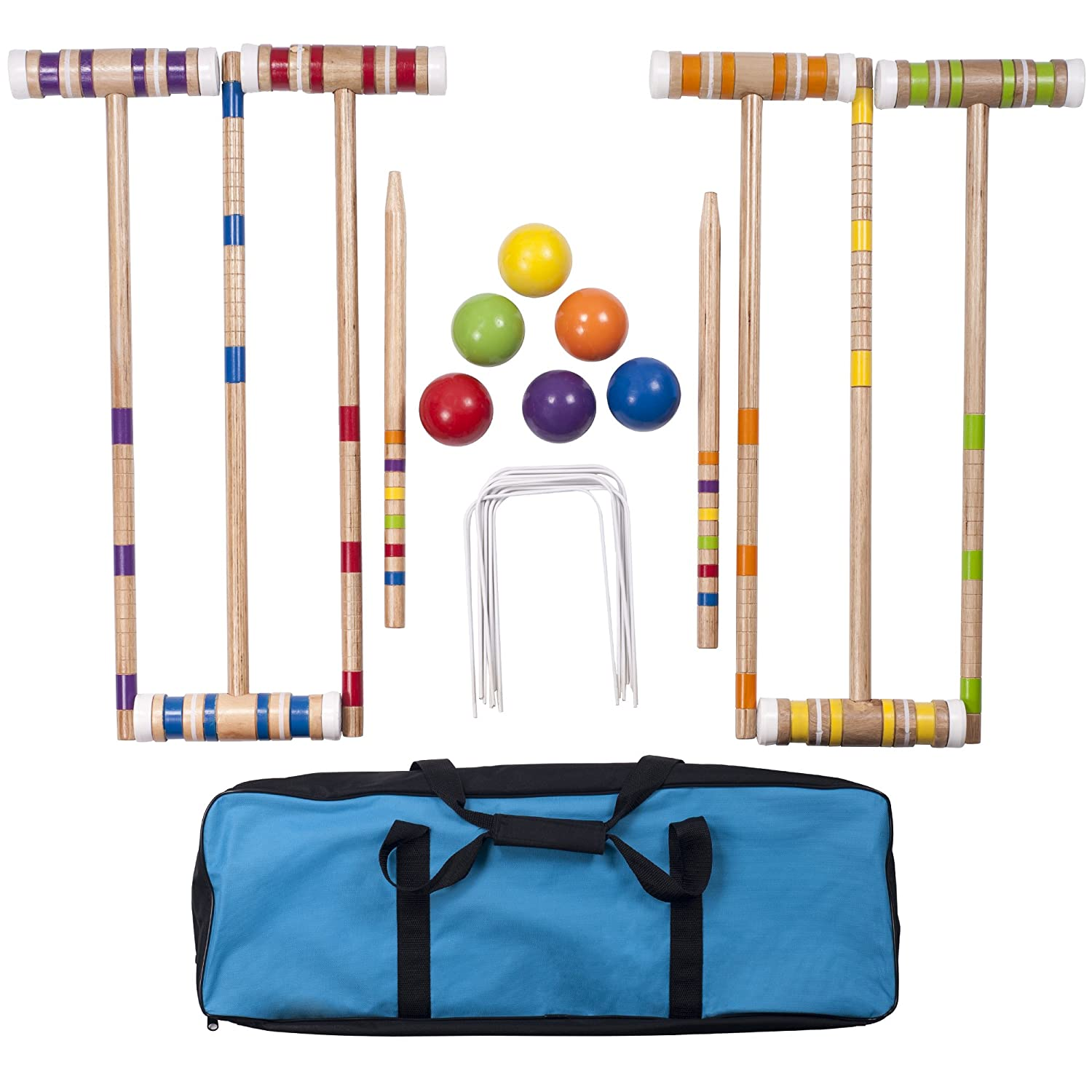 Complete Croquet Set with Carrying Case Hey Play