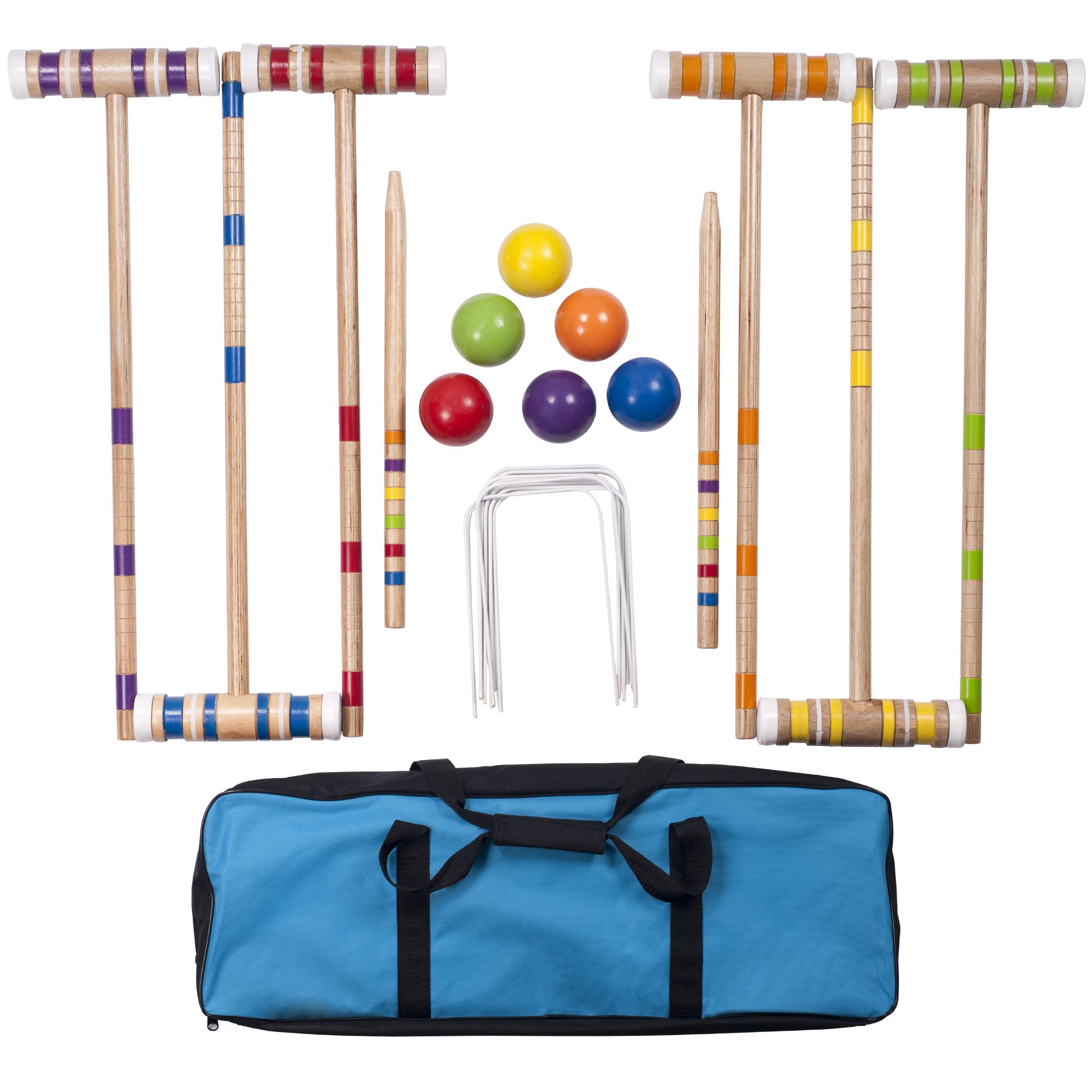 Hey! Play! Complete Croquet Set with Carrying Case by Hey! Play!