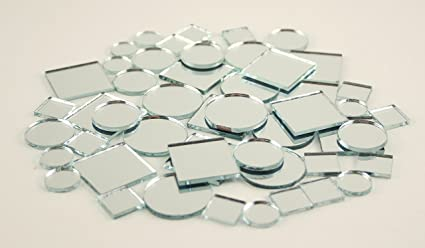 2 Inch Glass Craft Small Square Mirrors 12 Pieces Mosaic Mirror