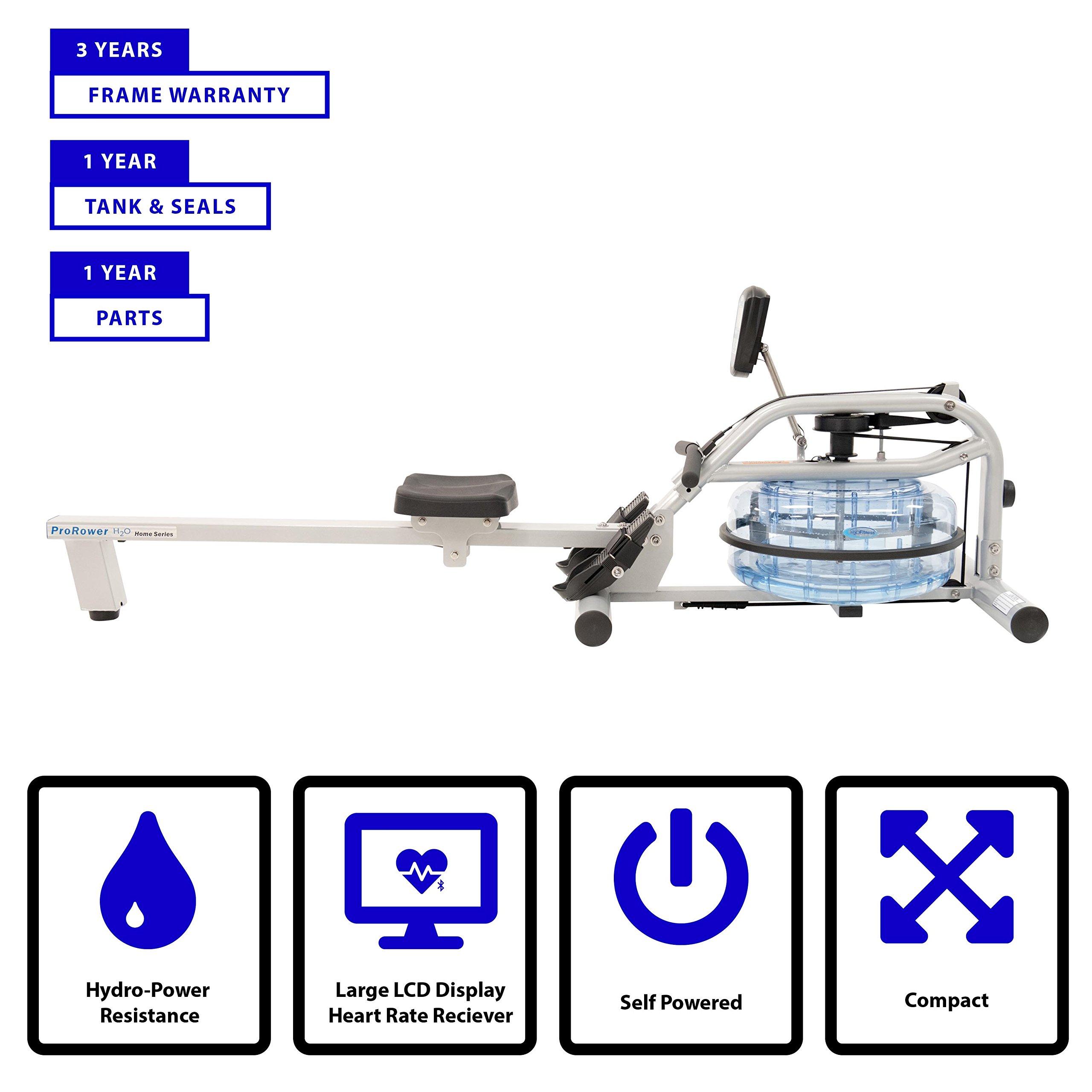 HCI Fitness Prorower RX-750 Prorower Indoor Water Rowing Machine
