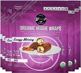 product image for WrawP Energy Morning Mini Veggie Wraps 8 Pack Raw Organic Energizing Veggie Flatbread Bulk | Wheat-Free Gluten Free Paleo Wraps Non-GMO Vegan Friendly Full Value Case Plant-Based