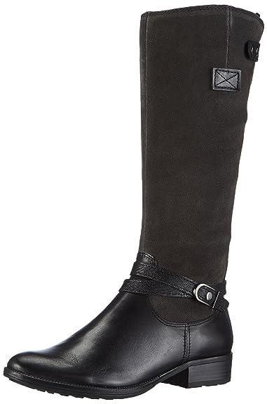 Tamaris 25503, Damen Langschaft Stiefel, Mehrfarbig (BlackGraphite 056), 36 EU (3.5 Damen UK)