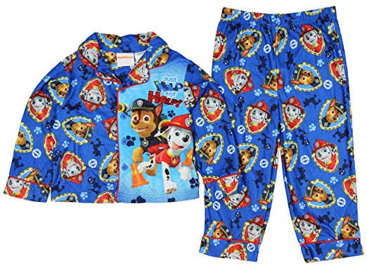 Paw Patrol 2PC Flannel Little Boys Pajama Set (12 MONTH)