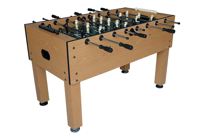 Amazon.com : Halex Galaxy 54 Inch Foosball Table Game (Butcher Block  Finish) : Sports U0026 Outdoors