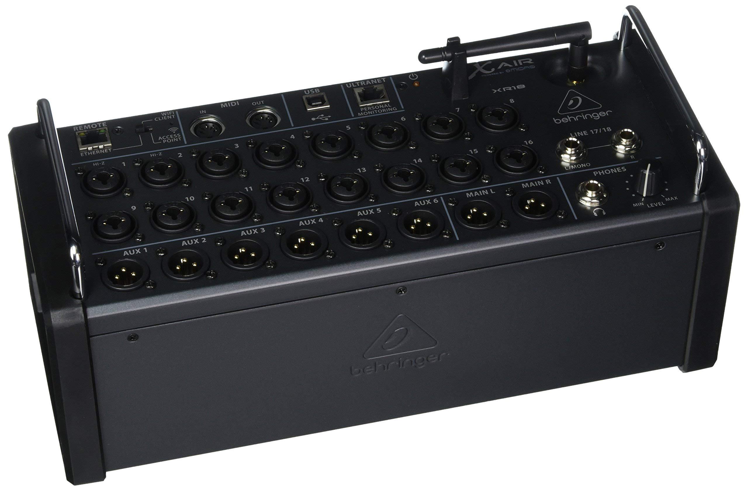 XR18 X Air Digital Mixer for iOS, Android, Mac & PC