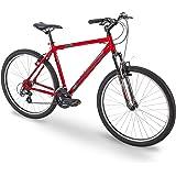 "Royce Union 27.5"" RMA Mens 21-Speed All-Terrain Mountain Bike, 20"" Aluminum Frame, Trigger Shift, Red"