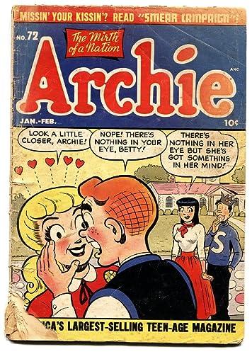 Amazon com: ARCHIE COMICS #72 comic book 1955- BETTY