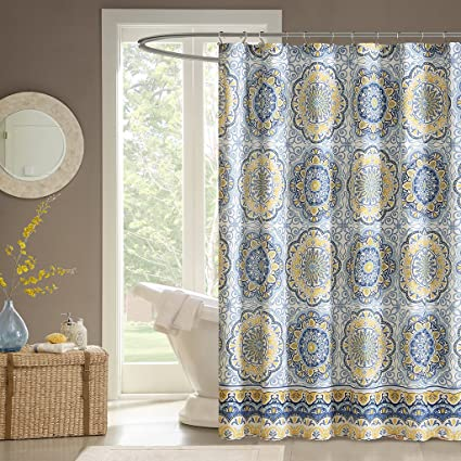 Madison Park MP70 1489 Tangiers Shower Curtain 72 X Blue