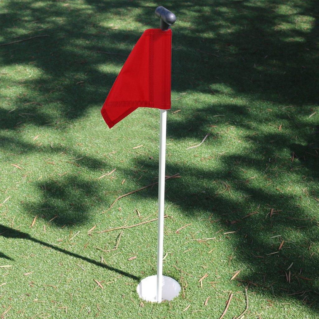 Baosity 2 Pieces Durable Nylon Practice Golf Putting Green Flags Backyard Garden Training Accessories by Baosity (Image #3)