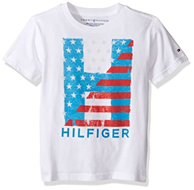 f982f3968 Amazon.com: Tommy Hilfiger Kids Mens Homeroom Tee (Toddler/Little Kids):  Clothing