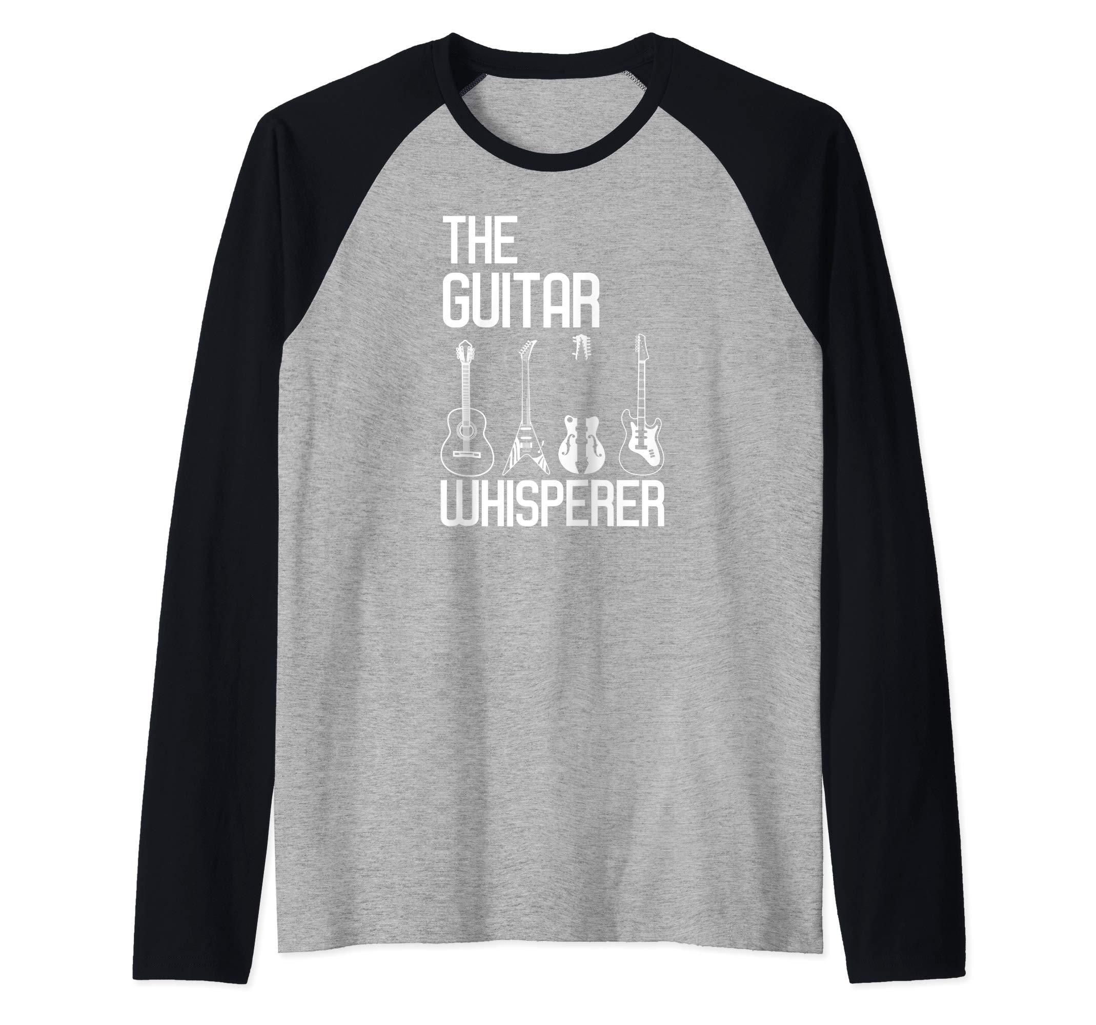 Guitarist Guitar Whisperer Guitar Player Guitars Lover Gift Raglan Baseball Tee by Guitar Lover Tee Shirt