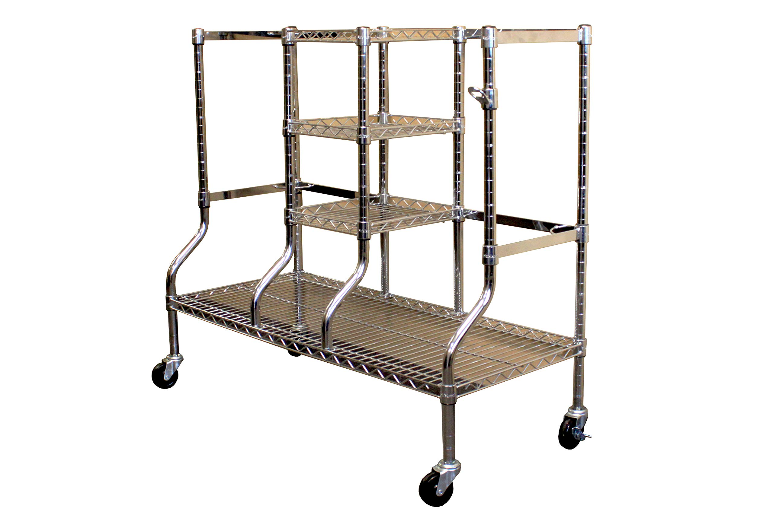 SafeRacks Golf Equipment Organizer Rack | Heavy-Duty Steel Wire Shelf Extra-Wide | Fits 2 Extra-Large Bags Plus Accessories (Golf Rack) by SafeRacks
