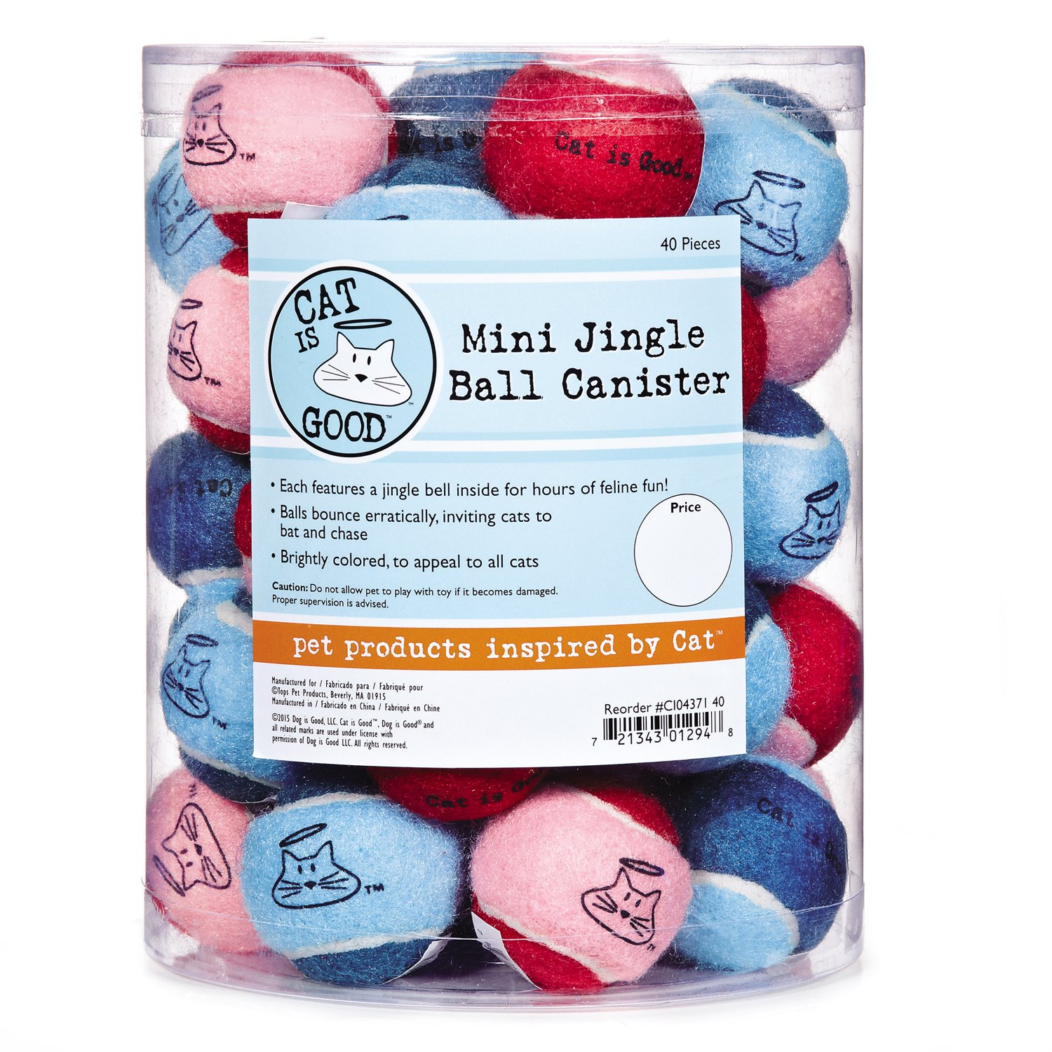 Cat Is Good 40 Piece Jingle Ball Cat Toys by Cat Is Good