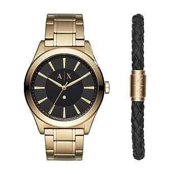 7b0546e451c Armani Exchange Reloj Analogico para Hombre de Cuarzo con Correa en Acero  Inoxidable AX7104  Amazon.es  Relojes