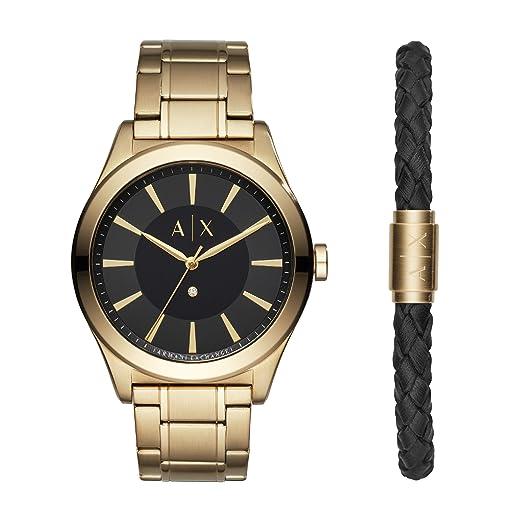 5988a62b5d6a Armani Exchange Reloj Analogico para Hombre de Cuarzo con Correa en Acero  Inoxidable AX7104  Amazon.es  Relojes