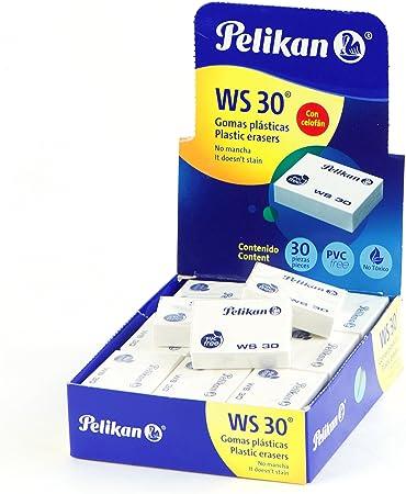 Pelikan Art - Goma de borrar, color blanco Pack of 30: Amazon.es ...